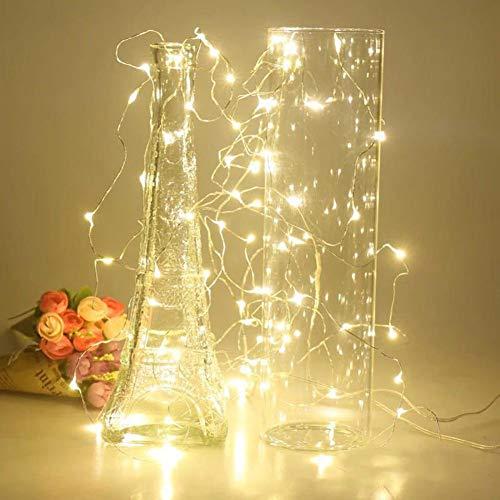 Luces de cadena LED de batería, utilizadas para la decoración de la fiesta de guirnaldas navideñas Árbol de Navidad luces de hadas intermitentes A5 5m50 leds usb
