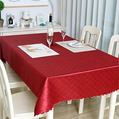FUHOAHDD Luxus Polyester staubdicht Tischdecken Hochwertige Jacquard Brokat Tischdecke rot 140 * 200cm, Grass Green
