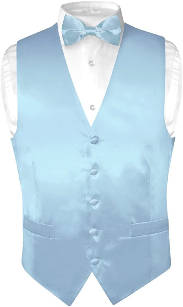 Biagio Men's SILK Dress Vest Bow Solid Tie San Diego Mall Color BABY Ranking TOP4 BLUE