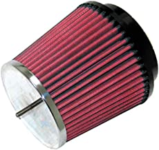 K&N RC-5157 Universal Clamp-On Air Filter: Round Tapered; 2.281 in (58 mm) Flange ID; 4.938 in (125 mm) Height; 4.531 in (115 mm) Base; 3.5 in (89 mm) Top