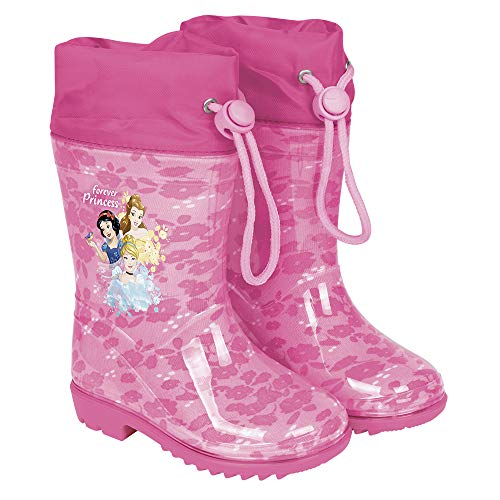 Botas de Agua para Niñas Princesas Disney- Botines Impermeables Cenicienta...