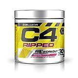 C4 Ripped Pre Workout Powder Raspberry Lemonade | Creatine Free + Sugar Free Preworkout Energy...