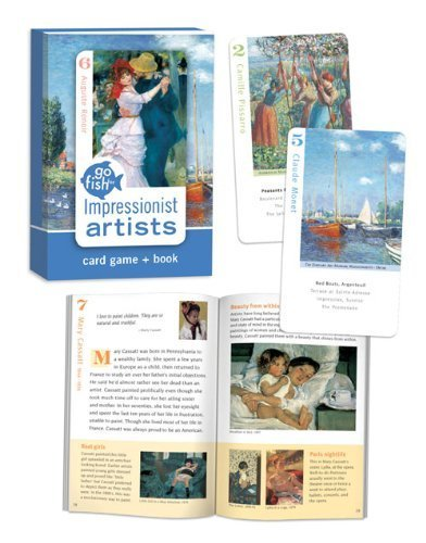 Birdcage Press Impressionist Artists Go Fish for Art Cards & Book