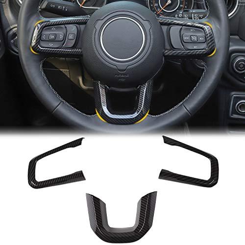 1PACK CheroCar JK Real Carbon Fiber Center Console Storage Box Decoration Stickers for Jeep Wrangler Unlimited 2//4 Door 2011-2018 Intertior Accessories