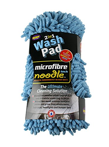 Kent Car Care Microfibre Noodle Wash Pad Colours May Vary