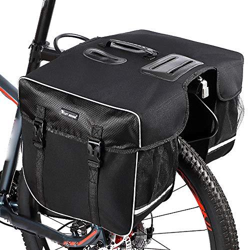 Lixada Fahrrad Gepäckträgertasche 30L Fahrradkoffer wasserdichte MTB Fahrradtaschen Doppelseitiger Gepäckträger Rücksitztasche