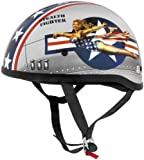 Skidlids Original Pin Up Helmet , Size: Sm, Distinct Name: Bomber Pin Up, Helmet Category: Street, Primary Color: Red, H
