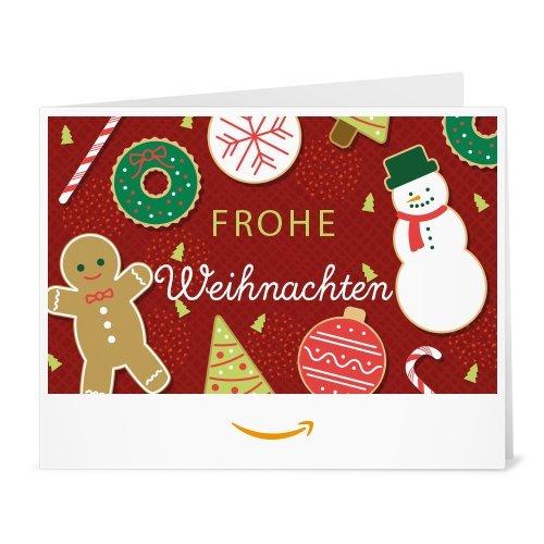 Amazon.de Gutschein zum Drucken (Weihnachtliche Süßigkeiten)