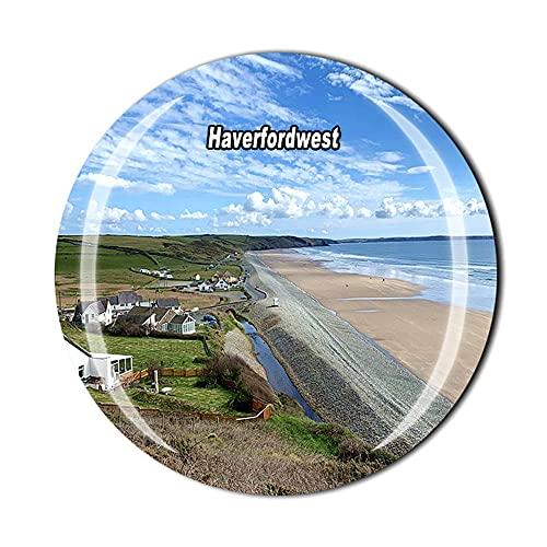 Haverfordwest Wales UK - Imán para refrigerador, regalo de recuerdo de viaje con cristal 3D para decoración del hogar y la cocina