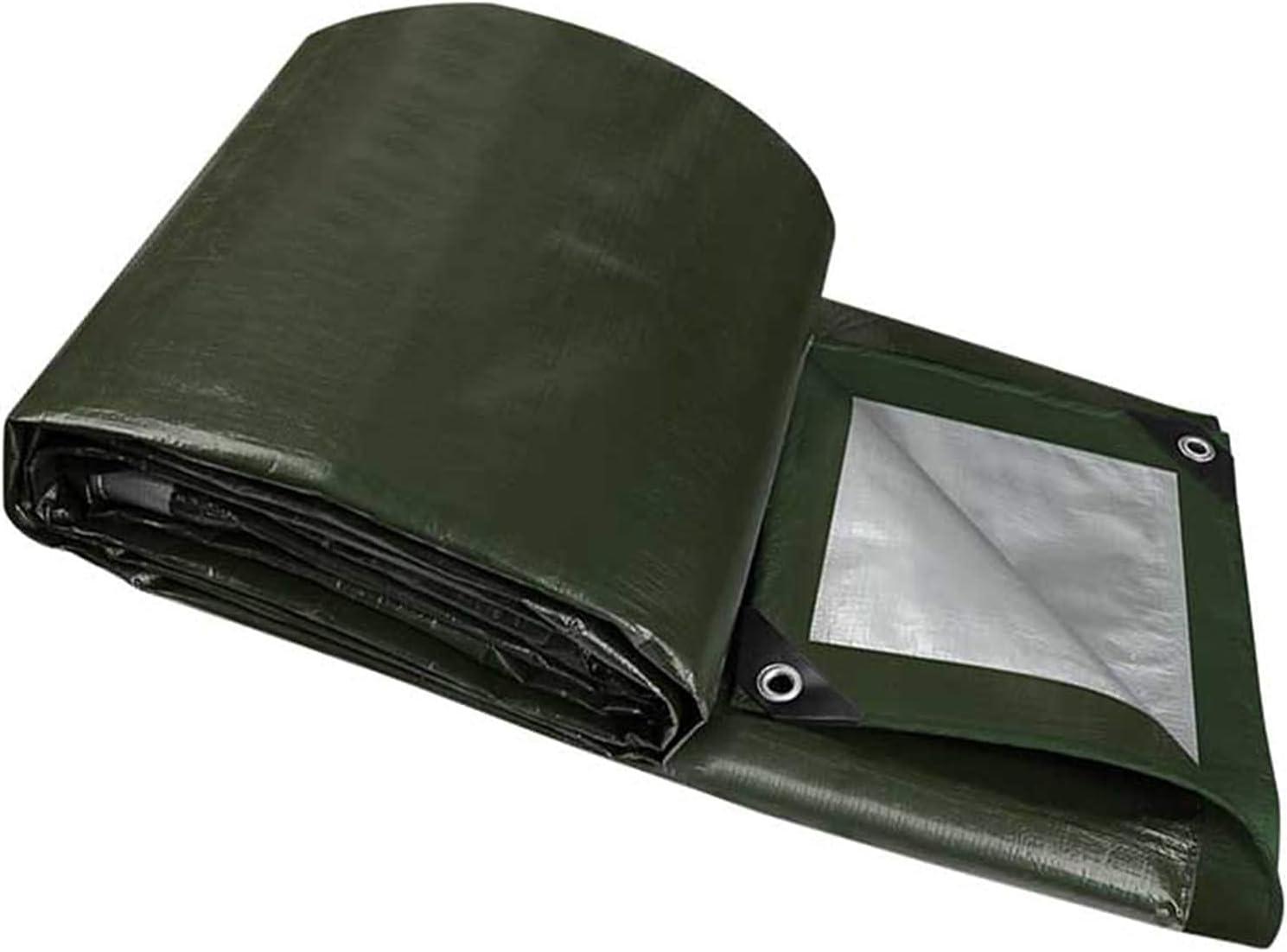MVNZXL Under blast sales Animer and price revision Tarps Dark Green PE Woven Duty Tarp Tarpaulin Heavy with