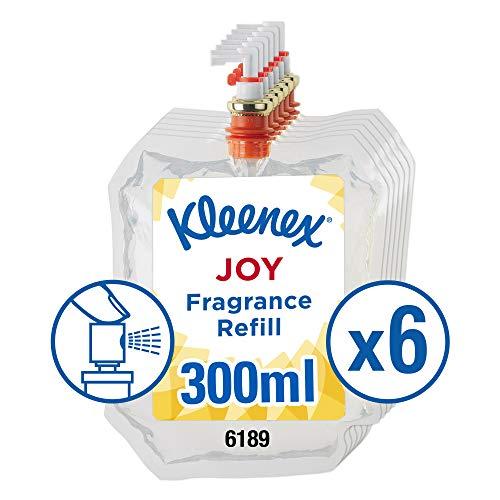 Kleenex Duft-Lufterfrischer Joy – Nachfüllpackung 6189, transparent, 6 x 300 ml (1.800 ml gesamt)