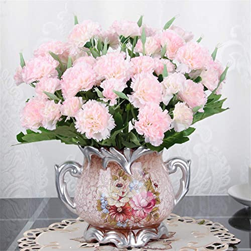 Mimitool Artificial Flower,Fake small pot flower Silk Bridal Realistic Bouquet Christmas Party Home Hotel Office Garden Decorative