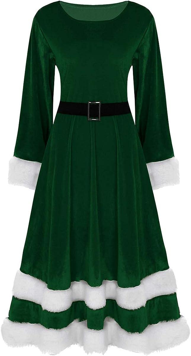 Lejafay Santa Claus Outfits for Women Faux Christmas Fur T Dress Alternative Ranking TOP17 dealer