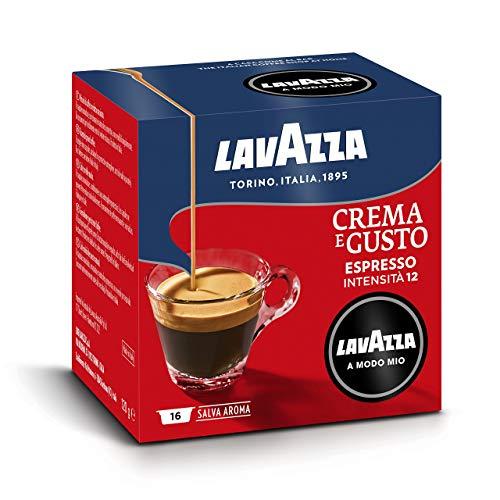 Lavazza A Modo Mio Capsule Caffè Crema e Gusto, Intensità 12 (Molto intenso) - Confezione da 256 Capsule