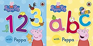 Peppa Pig A B C 1 2 3 Book Set ABC 123