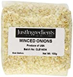 JustIngredients Essential Minced Onion Cebolla Picada - 5 Paquetes de 100 gr - Total: 500 gr
