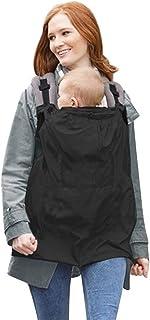 LHKJ Baby vindtät huvjacka cape med fickor universellt skydd för baby bärare bärhanddukar cape