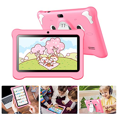 Tablet para Niños 7 Pulgadas, Tablet Infantil con ROM de 32GB Ampliable hasta 128GB, Tablet Niño Processore Quad-Core con WiFi, Android 9.0, RAM de 2GB Entertainment Educativo Doble Cámara (2)