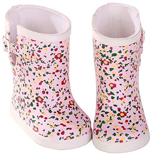 Götz 3402150 Mille Fleurs Gummistiefel - Puppenschuhe - Puppenkleidung & Puppenzubehör für Babypuppen Gr. M von 42 - 46 cm und Stehpuppen Gr. XL von 45 - 50 cm