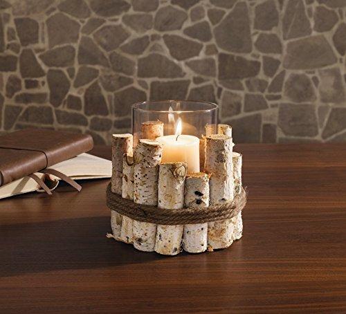 """TFH Windlicht """"Natur Äste"""" Kerzenhalter Teelichthalter Kerzenständer modern ausgefallen stylisch Laterne"""
