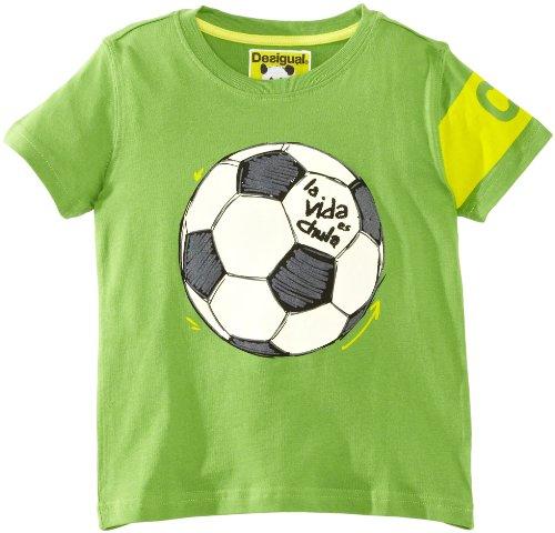 Desigual Juergençao - Camiseta para niño, Talla 14 años (162 cm), Color Verde (Verde amazona)
