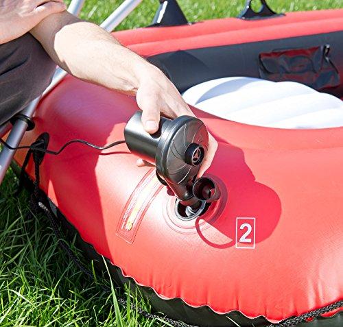 PEARL Gebläsepumpe: Elektrische Luftpumpe mit 3 Aufsätzen, für 12 V, 75 Watt (Elektronische Luftpumpe) - 4