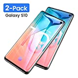 AINOPE [2-Pack] Galaxy S10 Glass Screen Protector, [[Support Fingerprint Unlock]] [Full Screen Coverage] Black Border [Most Case Friendly] Compatible Samsung Galaxy S10 6.1in 2019