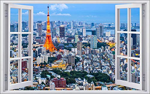 City Skyline Tokyo Stadt Japan Wandtattoo Wandsticker Wandaufkleber F2005 Größe 70 cm x 110 cm