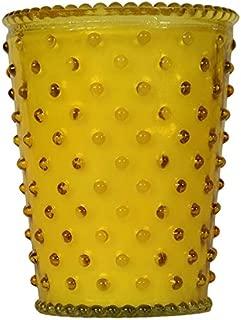 K. Hall Designs No-97 Meyer Lemon Hobnail Glass Candle, 16-Ounce