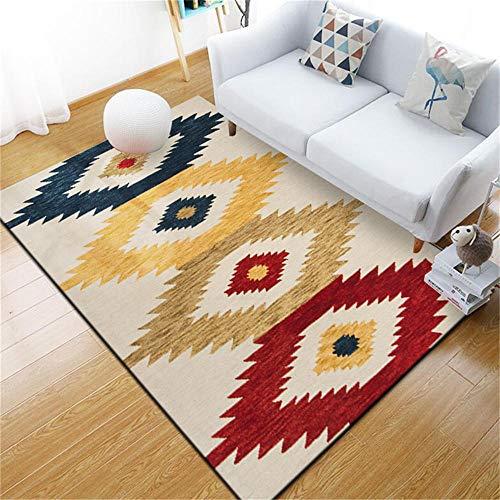 WQ-BBB Alfombra Exterior Fácil de cuidar Decoración de Moda Amarillo Blanco cremoso Azul marrón Rojo Colorido alfonbras de dormitorios 50X80cm