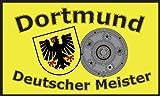 Dortmund Deutscher Meister Motiv: neutral Fussball Fahne Flagge Grösse 1,50 x 0,90m mit 2 Ösen