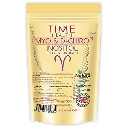 Nieuw: Myo & D Chiro Inositol – Effectieve 40:1 Ratio – Ondersteunt Vrouwen met PCOS – Bevordert Hormonale Balans & Normale Eierstokfunctie – 120 Capsules – Veganistisch – Geen Additieven (120 capsules)
