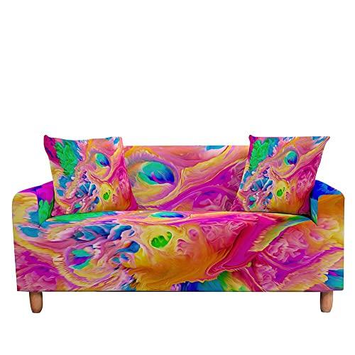 WXQY Funda de sofá elástica Funda de sofá con diseño de mármol Funda de sillón Totalmente Envuelta Funda de protección contra el Polvo A6 1 Plaza