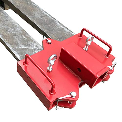 """Hydraker 2"""" Forklift Trailer Hitch Receiver Ball Hitch Attachments Fit for Dual Pallet Forks"""