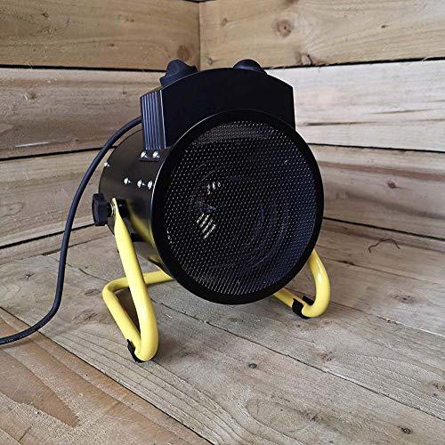 ELITTE 3KW Elektroheizer Heizlüfter Heizgerät Bauheizer mit integriertem Thermostat, Überhitzungsschutz sowie 3 Heizstufen