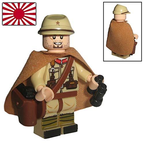 Custom Brick Design - WW2 Serie - Japanischer Offizier Soldat V.1 Figur - modifizierte Minifigur des bekannten Klemmbausteinherstellers und somit voll kompatibel zu Lego