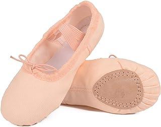 b8c310daf Ballet Shoes for Girls/Toddlers/Kids, Black Canvas Ballet Shoes/Pink Ballet