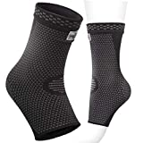 Ankle Brace Support Compression Sleeve Foot Support for Plantar Fasciitis | Achilles Tendonitis | Arch Heel Spurs-Pair Socks for Womens | Men | Kids |Best for Running