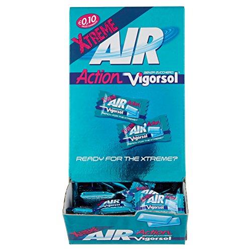 Vigorsol Air Action Gomme da Masticare Senza Zucchero, Chewing Gum Gusto Menta Xtreme, 250 monoporzioni da 2 Gomme Ognuno, 500 Confetti in Totale