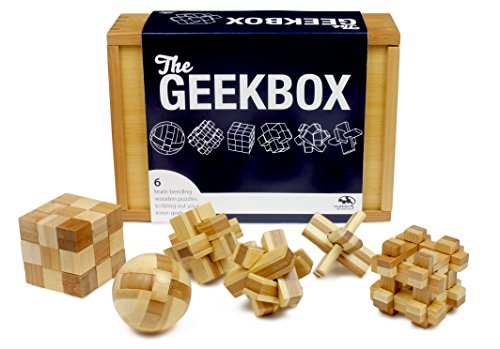 Marbles: The Brain Store Geek Box Wooden Puzzle (6 Piece)