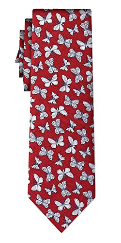 Générique cravate butterflies on red