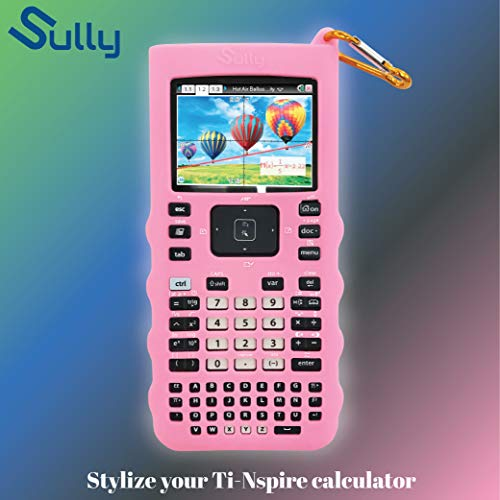 Sully Silicone Skin for Ti Nspire CX/CX CAS Handheld (Pink) w/Screen Protector - Silicon Cover Case for Ti-Nspire CX Hand held Graphing Calculator - Protective & Anti-Scretch Skins & Screen Covers Photo #7