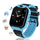 Kids Smart Watch, HD Touch Screen Kids Games Watch with 7 Games Music Player Calculator Alarm Clcok Smart Watch for Boys Girls Gifts for Kids 3-12 Years Old (Blue)