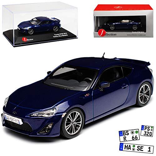 J-Collection Toyota GT86 Coupe Blau Ab 2012 1/43 Modell Auto mit individiuellem Wunschkennzeichen