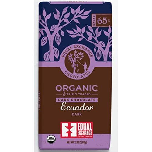 Equal Exchange Organic Ecuador 65% Dark Chocolate bar, 6 - 2.8 oz