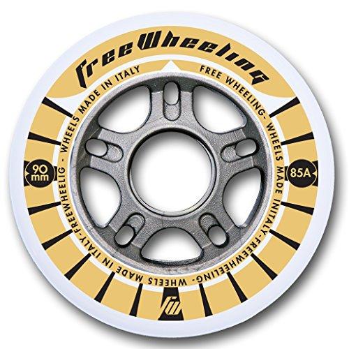FreeWheeling 4-Pack Ruedas para Patines en línea Race 90mm 1117386