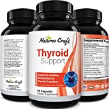 Energizing Natural Thyroid Support Supplement - Thyroid Supplement with Thyroid Vitamins Iodine B12 Selenium Ashwagandha and More - Natural Energy Supplement for Mood Enhancer and Thyroid Health