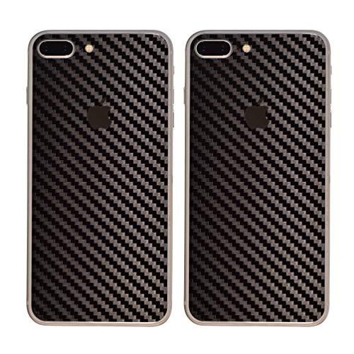 Paquete de 2 Fibra de Carbon Diseño Frustrar Resistente a rayones atrás Pegatina para iPhone 8 Plus   Antideslizante, Antipolvo, Ultra Delgado (70 Micrones)   Espalda a Prueba de Arañazos