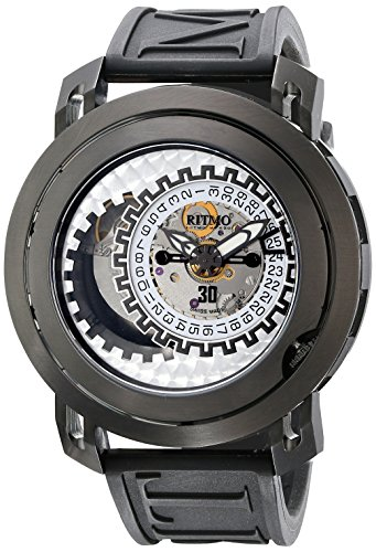 Ritmo Mundo Men's 202/3 Green Black Persepolis Dual-Time Exhibition Automatic Watch