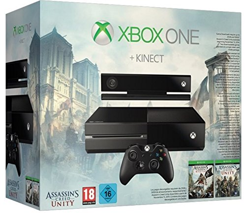 Console Xbox One avec Kinect + Assassin's Creed: Unity + Assassin's Creed IV: Black Flag